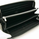 LV M60072-男士黑色水波紋長款錢包