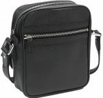 LV M32462-1-Louis Vuitton 黑色十字紋系列全皮單肩包