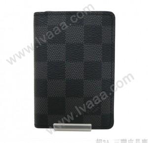 LV N63075 時尚精品黑格系列錢包