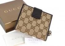 GUCCI 233022-GUCCI高檔位帆布三折短款錢包