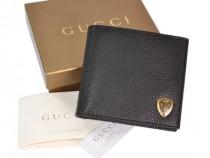 GUCCI 203602-GUCCI簡約時尚真皮盾牌錢包