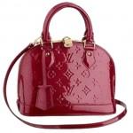 LV M91606-Louis Vuitton 紅色Alma BB壓花漆皮Mini號手提包包