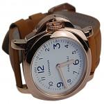 PN1029-沛纳海二针全自动机械背透金壳皮带腕錶