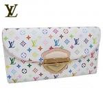 LV M66810-白彩金扣手拿式女士錢包