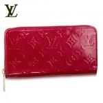 LV M91981紅-女士紅色亮皮單拉鏈長款錢包