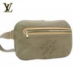LV M93020銀-時尚大方格銀色男士腰包