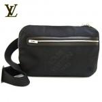 LV M93021黑-時尚大方格黑色男士腰包