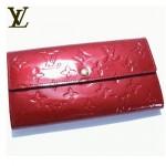 LV M93530紅-紅色亮皮壓花時尚錢包