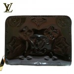 LV M93607-1 新款漆皮壓花短款拉鏈皮夾