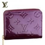 LV M93603紫-時尚紫色漆皮壓花短款錢包
