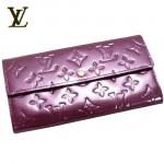 LV M93577紫-紫色漆皮壓紋長款按扣錢夾