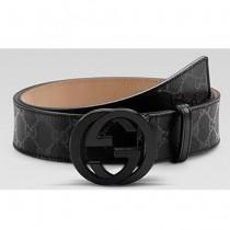 GUCCI GUCCI-221-最新款水晶面料雙G扣皮帶|