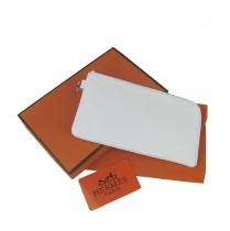 Hermes H010白色韩版百搭卡包 真皮頭層牛皮 時尚錢包錢夾皮夾 男女適用