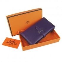 Hermes H005紫色 女錢包 錢夾 真皮 多色