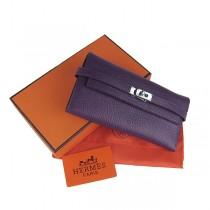 Hermes H009紫色 爱玛仕頭層羊皮最新款時尚錢包
