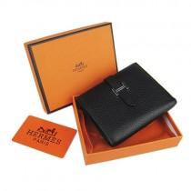Hermes H006黑色短款錢包