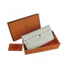 Hermes H009米白色 女包手拿包 Kelly包