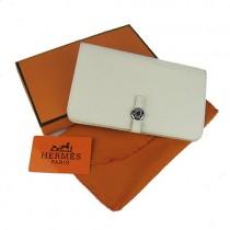 Hermes H001 米白色新款日系木质大钮扣包