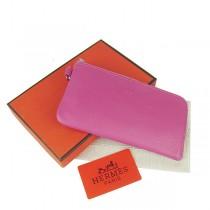 Hermes H010桃紅 牛皮錢包錢夾 多色可选