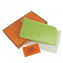 Hermes H010綠色韩版時尚卡包 真皮頭層牛皮 个性錢包錢夾皮夾 男女適用