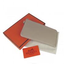Hermes H010灰色休闲百搭卡包 真皮頭層牛皮 時尚錢包錢夾皮夾 男女適用