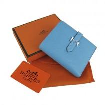 Hermes H006淺蘭 女士錢包系列 真皮