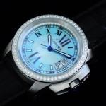 卡地亞手錶 cartier  瑞士進口 藍氣球 自動機械女表 CARTIER-92