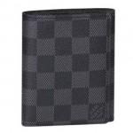 LV N63096 LV新款黑格系列男士短款3折錢包TRIFOLD錢夾