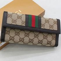 Gucci 258073-1 新款按扣長款皮夾