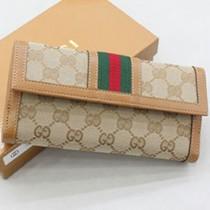 Gucci 258073 新款按扣長款皮夾
