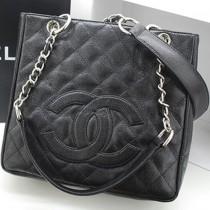 CHANEL 36074 新款黑色球紋牛皮MINI GST女士單肩購物包