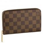 LV N60028 新款Damier 棋盤格 女士拉鏈錢包