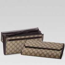 Gucci 163252 新款中性錢包男女通用中長錢包