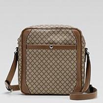 Gucci 268159-1 秋冬新款棕色菱紋背包