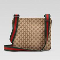 Gucci 256100 秋冬新款男士時尚帆布斜背包