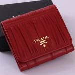 PRADA 1M0176-4 新款三折小羊皮短夾