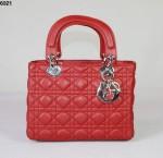 Dior 6321-Ladydior包包戴妃包 皮/羊皮/真皮手提单肩