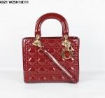 Dior 6321-3-Ladydior包包戴妃包 皮/羊皮/真皮手提单肩