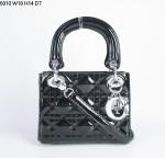 Dior 6310-1-包包戴妃包 漆皮/羊皮手提单肩