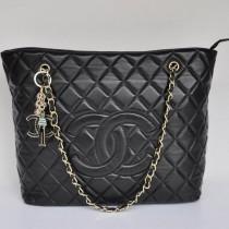 Chanel 2053-專櫃新款热卖欧美女包时尚休闲包单肩包 黑色