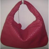 BV 5092-9 奢华明星最爱經典款 红色羊皮手工编织包