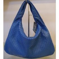 BV 5092-奢华明星最爱經典款 宝蓝色羊皮手工编织包手提包单肩包