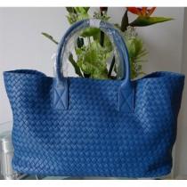 BV 5211-1安以轩/王菲同款女包 宝蓝色羊皮编织