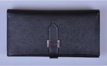 Hermes-520 爱马仕三折钱包Epsom手掌纹或十字纹钱