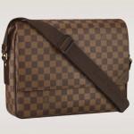 LV N41149 咖啡色棋盤格 掀蓋斜背書包 側背包