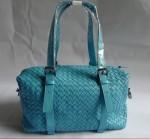 BV 1048-2 奢华明星最爱經典款 羊皮手工编织包 水藍