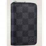 LV N63076 新款黑色格子男士錢夾