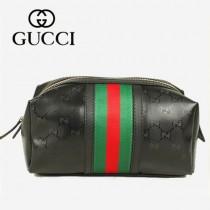 GUCCI 256637-1 2013新款新款尼龍料 手拿包 化妝包 拉鏈零錢袋(大號)