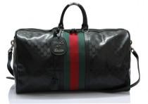 GUCCI-269363 新款旅行包防水男女通用 容量大 黑光胶