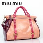 MIUMIU 88010-2 專櫃新款紫紅色單肩斜背包